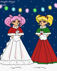 Chibiusa and Charlotte Request by AngelRaye