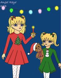 Christmas Marissa and Maddie by AngelRaye
