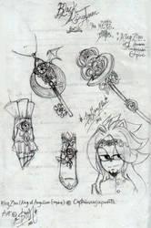 BKT : Zion Romanov's props and keys by Slappymarryellen