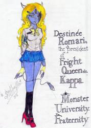 MU Fan character : Destine Romari by Slappymarryellen