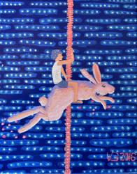 rabbit carousel by vonnbriggs