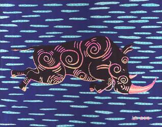 Rhino night by vonnbriggs
