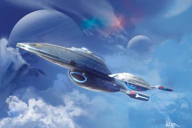 U.S.S Voyager and U.S.S Equinox [Eaglemoss] by thraxllisylia