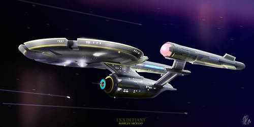 Iss-defiant-variation by thraxllisylia