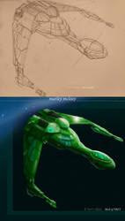 K-Vort Class Klingon Bird of Prey by thraxllisylia