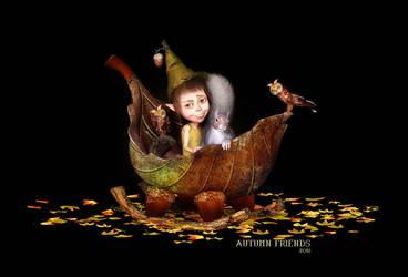 Autumn Friends by Dani3D