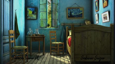 French Bedroom Stage DL for MMD by SakuraSuzie