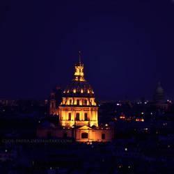 Paris at night by cloe-may