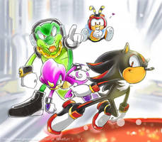 Shadow-vs-Team-Chaotix by witica3