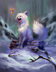 Arctic Fox by TehChan