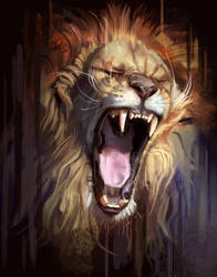 Angry Lion by TehChan