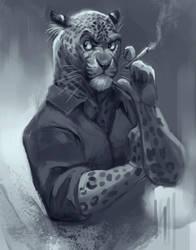 Anthro Leopard by TehChan