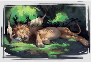 Lazy Lion by TehChan