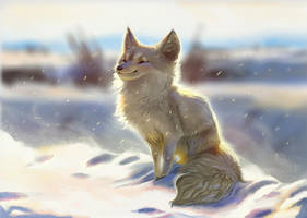 Chilling in the Cold by TehChan