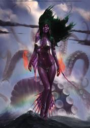Merfolk sorceress by BryanFR