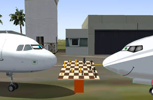 A321 Plays Chess With Mac by MacThePlaneh