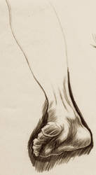 'Life Drawing Foot Study 2' by TADASHI-STATION
