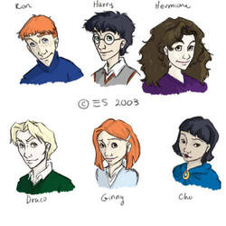 Harry Potter Character Studies by veralidaine