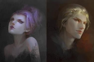 Portrait by HRFleur