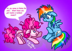 MLP: Pinkie and Dash meeting by KikiRDCZ