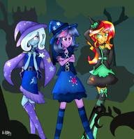 MLP: Happy Nightmare Night by KikiRDCZ