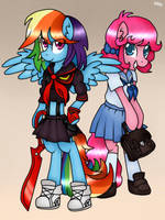 MLP and KLK crossover by KikiRDCZ