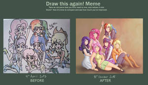 Before and After Meme - Mane 6 by KikiRDCZ