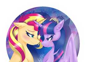 MLP: Twily and Sunny by KikiRDCZ