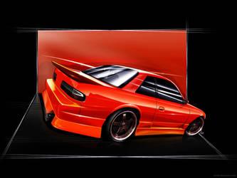 Nisaan Silvia S13 by Wrofee