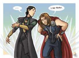 The Avengers - Thor and Loki: I See Trouble by Renny08