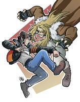 Logan VS Sabretooth by Renny08