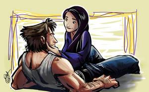 Wolverine and Psylocke by Renny08