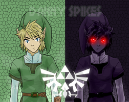Link VS Dark Link (Legend Of Zelda.) by DannyJarratt