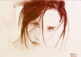 Jennifer Conelly colored by floboc