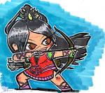 DnD Chibi - Fighter (Archer) by Sebbythefreak