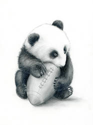 Little Football Fan by SabinasArts