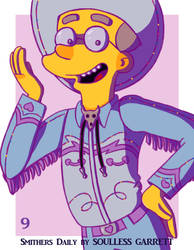 Smithers Daily 9: Flaming Cowboy Smithers by Garrett-Strangelove