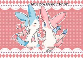 Sylveon Couple by ChikoritaMoon