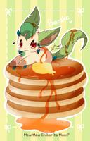 Leafeon Pancake by ChikoritaMoon