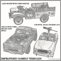 Improvised Vehicle Line Art by theschell