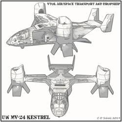 MV-24 Kestrel Line Art by theschell
