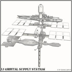 L1 Supply Station Line Art by theschell