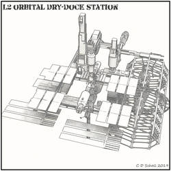 L2 Orbital Dry-Dock by theschell