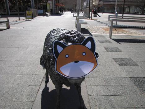 Stupidfox amongst the sheep by Wing-Wing-Senri