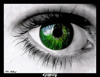 Colored Pencil Green Eye by theGaffney