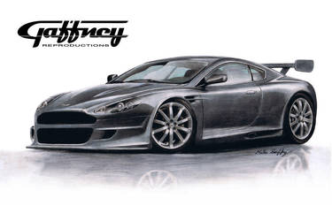 Colored Pencil Aston Martin by theGaffney