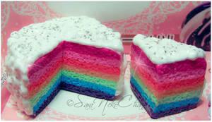 Rainbow Cake by SaraNekoChan