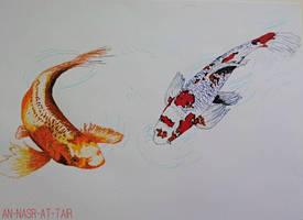 koi doodle by an-nasr-at-tair