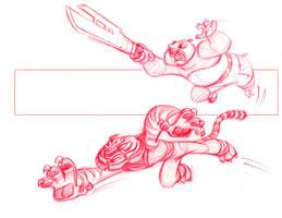 Kung Fu Panda Sketch by scotlanddbarnes
