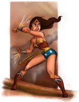 Wonder Woman Sketch by scotlanddbarnes